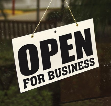 Hanging Open for Business Sign