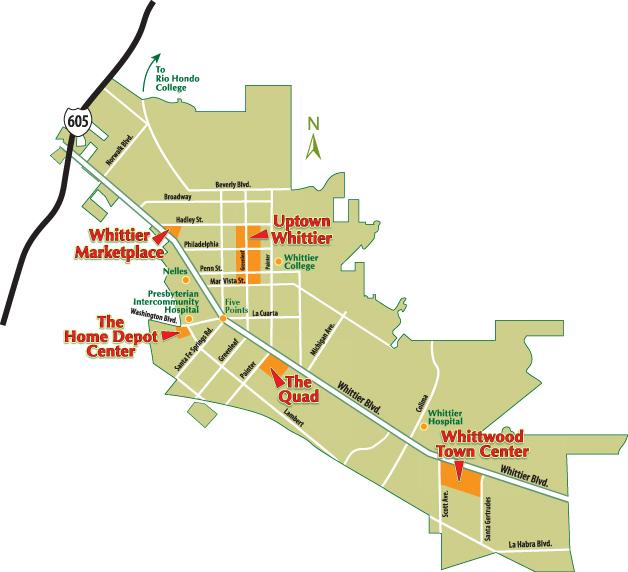 Whittier Ca Map Retail Center Map | Whittier, CA Whittier Ca Map