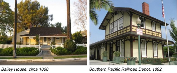 Bailey House and Southern Pacific Railroad Depot
