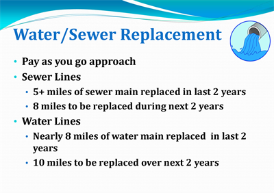 Water/Sewer Replacement Slide
