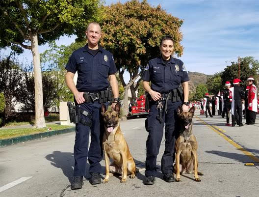 K-9 units and Police Officers